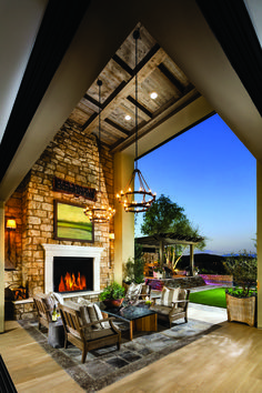 Enjoy the sunset and soft rolling hills from the privacy of your home at Toll Brothers at Hidden Canyon.
