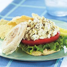 Tofu Salad Sandwiches | MyRecipes.com #myplate #protein #grain #vegetable