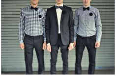Quirky Chic Grooms Wearing Bow Ties