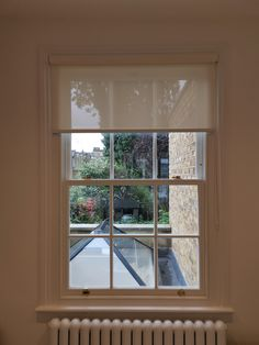 Made to measure sunscreen roller blind made and fitted by us for a home in Kentish Town, London. Sash Windows, Blinds For Windows, Window Coverings, Window Treatments, Modern Net Curtains, Brighton And Hove, Roller Blinds, Cottage Ideas, Being A Landlord