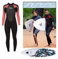 """Surfing with Liam and Louis~"" by england1d1994 ❤ liked on Polyvore featuring Billabong"