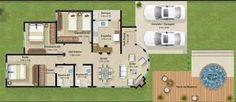 5 Plantas De Casas At Ideas Incre Bles Planos 1167 Modern House Facades, Construction, Facade House, Design Moderne, Home Projects, Decoration, House Plans, Deck, Floor Plans