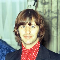 """The Beatles' drummer Ringo Starr attends the launch of the animated film """"Yellow Submarine"""", in Knightsbridge, London, July 8, 1968. (AP Photo/Frank Leonard Tewkesbury)"""