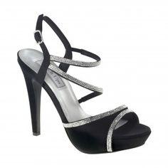 ALLIE-422 Women Rhinestones High Heels - Black