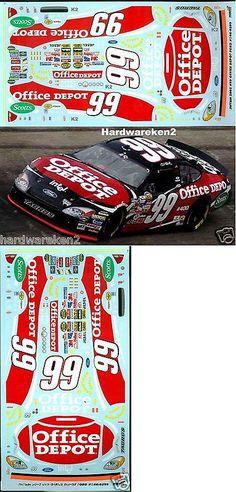 NASCAR 1//24 WATER SLIDE DECALS 2001 LMS #04 KYLE BUSCH QUALITY MOTORSPORTS