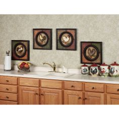 Rooster Kitchen Decorating Ideas Roosters Kitchen Decor 15 Roosters