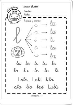 Silabario En Espanol Para … images, similar and related articles aggregated throughout the Internet. Spanish Lessons For Kids, French Language Lessons, Learning Spanish, Learning Quotes, Learning Activities, Kids Learning, Learning Sight Words, French Worksheets, Cursive Handwriting
