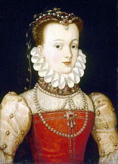 Elisabeth of Austria (1554–1592) Queen of France attr François Clouet (1515–1572), see also: http://bjws.blogspot.com.au/2013_01_12_archive.html