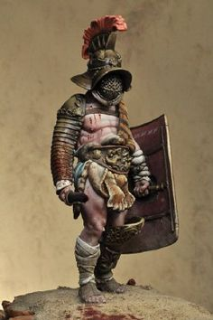 Roman gladiator, toy soldier.