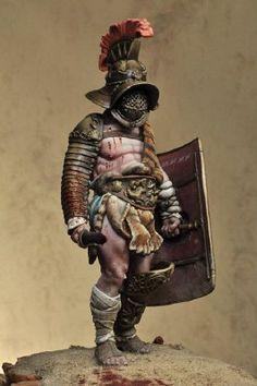 Roman gladiator, toy soldier.