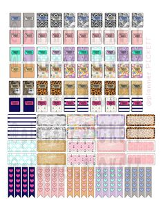 ..:: Full Faith ::.. printable diy planner free stickers, functional ,plan with me, theme set