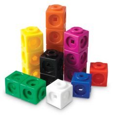 """Mathlink Cubes, Set of 100 - Shop by Subject - Teachers - Learning Resources®  Just read that these can be used to play """"Minecraft"""" without the computer...sounds like a great idea!"""