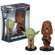 Star Wars Yoda and Chewbacca Ultra-Mini Bobble Heads 2-Pack - http://lopso.com/interests/star-wars/star-wars-yoda-and-chewbacca-ultra-mini-bobble-heads-2-pack/