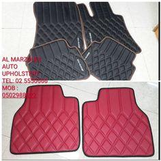 Customized synthetic leather car floormats floor mats diamond stitch