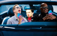 """sassy-sad-satan: """" Steve, Bucky and Fury go for a ride. Inspired by @askthederpvengers!! """" I love this! Great edit! C:"""