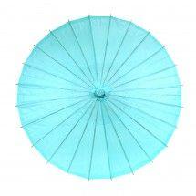 Color Paper Parasol Umbrella - Diamond Blue