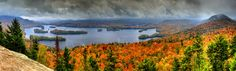 https://flic.kr/p/A1bNNc | Adirondack Panorama | Drizzly day above Blue Mountain Lake, taken from the top of Castle Rock trail, upstate New York, the walk takes about 1 hour each way.  Egad, I don't have a gallery to cover NY state, I'll put it in New England for now.