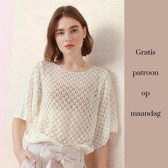 Gratis patroon op maandag - Shirt. Ontvang ieder maandag het gratis patroon en een leuke aanbieding van het garen.