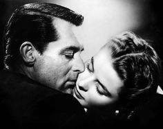 "Best Old Hollywood Screen Kisses. Cary Grant and Ingrid Bergman in Notorious (1946). ""A kiss is a lovely trick designed by nature to stop speech when words become superfluous."" ~Ingrid Bergman"