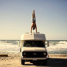 Just your typical pre-surf warmup  What is your favourite sport?  @mark_tesi via  @lushpalm - #CamperLifestyle - Follow your  dreams!