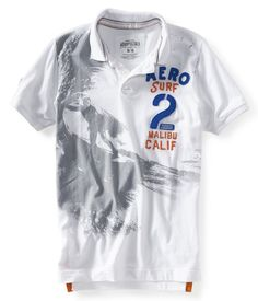 Aeropostale Polo Shirts | Aeropostale mens AERO SURF 2 polo shirt Style # 2337