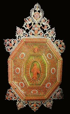 Quadretto house altar with Virgin on a crescent moon adorned with coral by Anonymous from Trapani, first half of the 17th century, Bazylika Mariacka w Krakowie, offered by Queen Maria Josepha of Austria to the St. Mary's Church in Kraków, possibly from the collection of Michael Korybut Wiśniowiecki