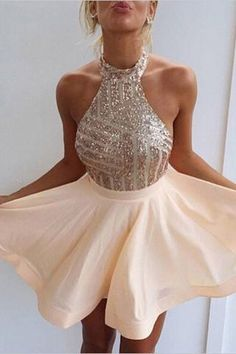 Fancy Halter Homecoming Dresses, Open Back Homecoming Dresses,Short Homecoming Dress,Short Prom Dress With Beading,Mini Party Dresses Cute Homecoming Dresses, Sequin Prom Dresses, Prom Dresses For Teens, Hoco Dresses, Sexy Dresses, Formal Dresses, Prom Gowns, Evening Gowns, Backless Dresses