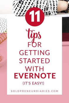 I've been using Evernote since 2009 and I can't imagine how disorganized my life would be without this program. If you aren't using Evernote yet, it's easy to get started. Follow the 11 tips that I'm sharing today and you'll be up and running in no time. #businesstools Evernote, Up And Running, It's Easy, Get Started, Being Used, How To Get, Tools, Business, Life