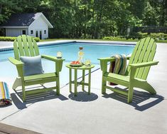 Need a Comfortable Outdoor Chair With Style? Try an Adirondack Chair Set and add it to your patio for this spring, summer, and fall. Rustic Adirondack Chairs, Comfortable Outdoor Chairs, Outdoor Furniture Sets, Outdoor Decor, Outdoor Areas, 3 Piece, Patio, Vineyard, Official Store