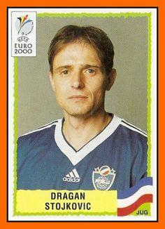Dragan Stojkovic of Yugoslavia. 2000 European Championship card.