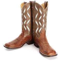BootDaddy Collection with Tony Lama Cognac Smooth Ostrich Cowboy Boots