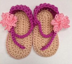 Super cute baby crochet sandals