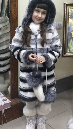 White Faux Fur Coat, Furs, Cool Pictures, Kids Fashion, Nice, Children, Classic, Hot, Sweaters