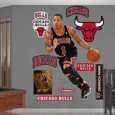Fathead Chicago Bulls Derrick Rose Wall Decals, Multicolor