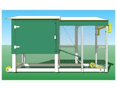 maintenance-door side of chicken coop build with the happy valley hen house building guide chicken-coop plans