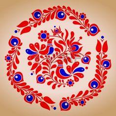 Hongrois motifs folkloriques vecteur