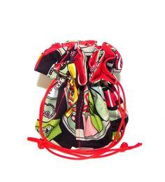 Drawstring Jewelry Bag Pouch Jewelry organizer Geometric Polka