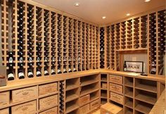 A display that could turn an average wine drinker to a fanatic. All it's missing is a #TV :)