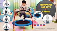 Trampoline for Toddlers + Pose pack Sims 4 CC