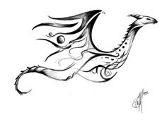 dragon tattoos tribal | Tribal Dragon Tattoo concept by ~etheet on deviantART