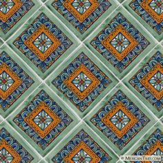Mexican Tile - Green Veleta Mexican Tile.... LOVE!