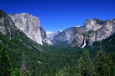 Yosemite National Park | Distant Bridaleveil Falls (620ft) in the Yosemite National Park.