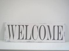 Welcome Sign/Hand Painted Sign/Entry Way Sign/
