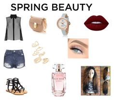"""""""Untitled #9"""" by jadalover1992 ❤ liked on Polyvore featuring beauty, McQ by Alexander McQueen, Topshop, Mystique, Chloé, Lime Crime and Elie Saab"""