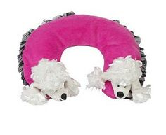 Parisian Poodle Travel Pillow