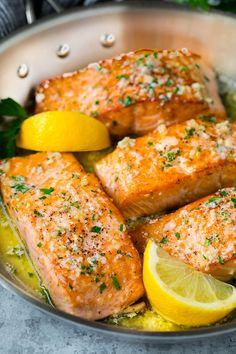 Salmon Recipe Pan, Seared Salmon Recipes, Pan Fried Salmon, Easy Salmon Recipes, Pan Seared Salmon, Baked Salmon, Seafood Recipes, Cooking Recipes, Keto Salmon