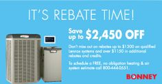 Save BIG on a new Lennox HVAC system this spring from Bonney!