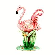 Flamingo jeweled trinket box