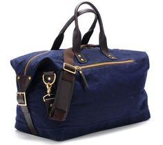 Ernest Alexander Wax Canvas Weekend Bag #Fashion