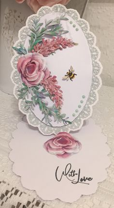 Tattered Lace Cards, Easel Cards, Anna Griffin, Card Crafts, Lace Design, I Card, Stamping, Birthday Cards, Card Ideas